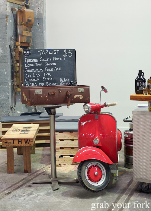 Nomad and Birra del Borgo beer tap list at Rootstock Sydney 2015