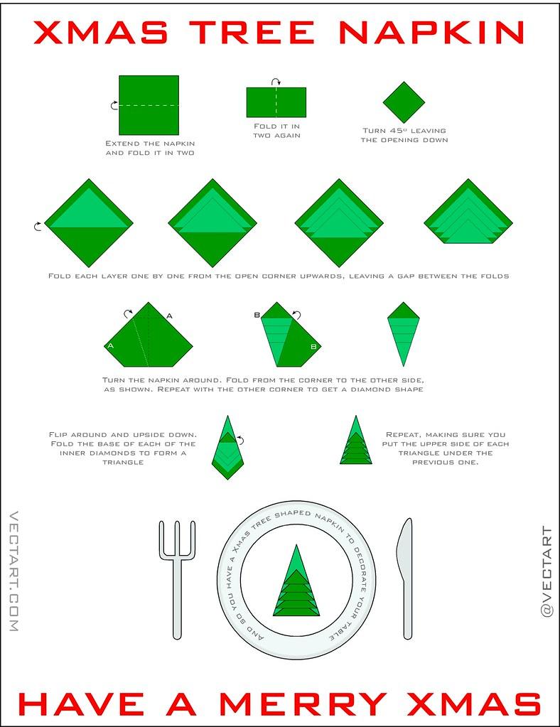 Xmas tree napkin