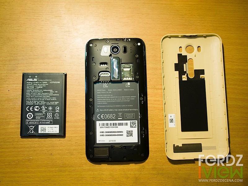 Battery, Dual SIM card slots and MicroSD slot