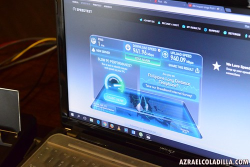 PLDT Home Fibr 1GBPS speed -- test and experience