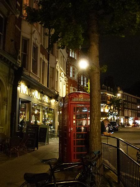 telephone sur Maylebone High Street