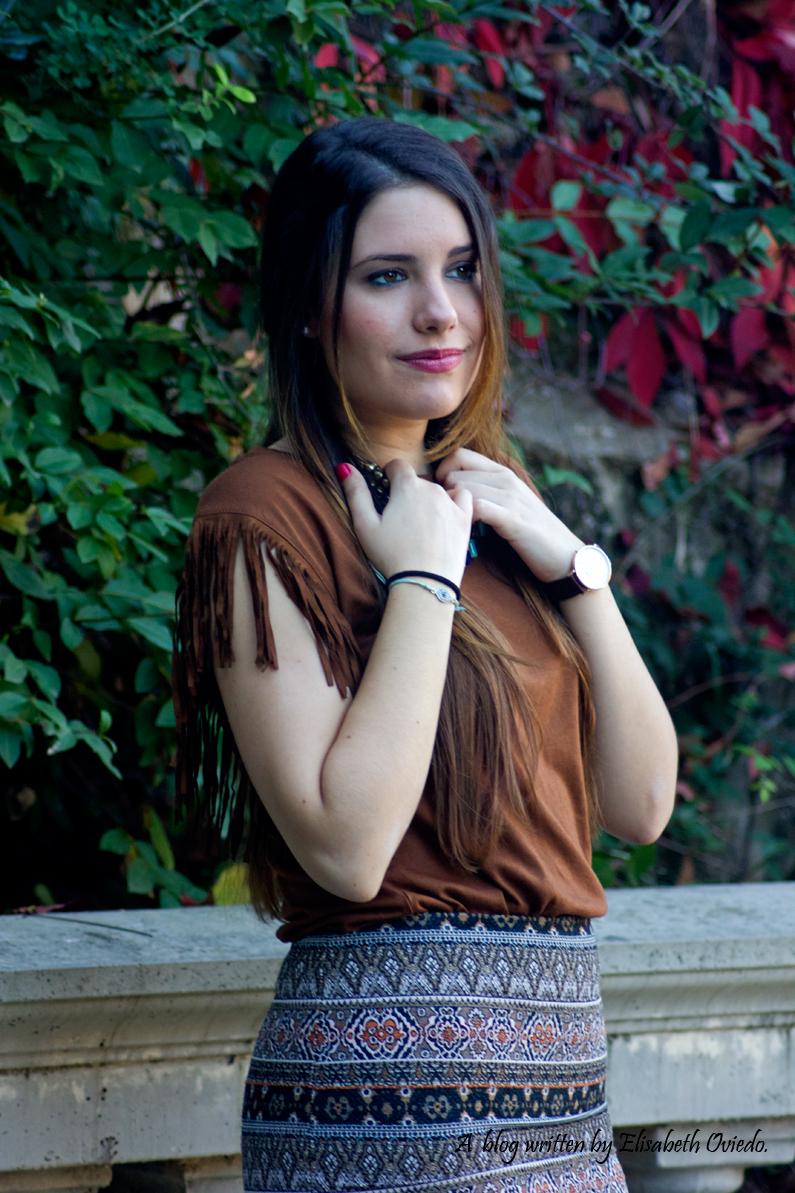 falda el corte inglés camiseta flecos HEELSANDROSES (12)
