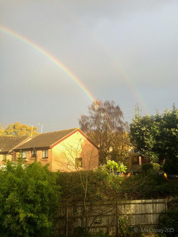 We woke up to a rainbow
