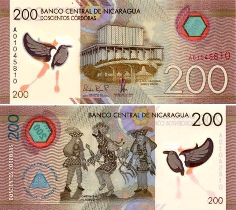 200 Córdobas Nikaragua 2015, polymer