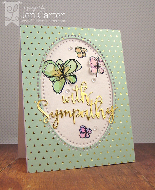 Jen Carter Gold Butterfly Sympathy wm