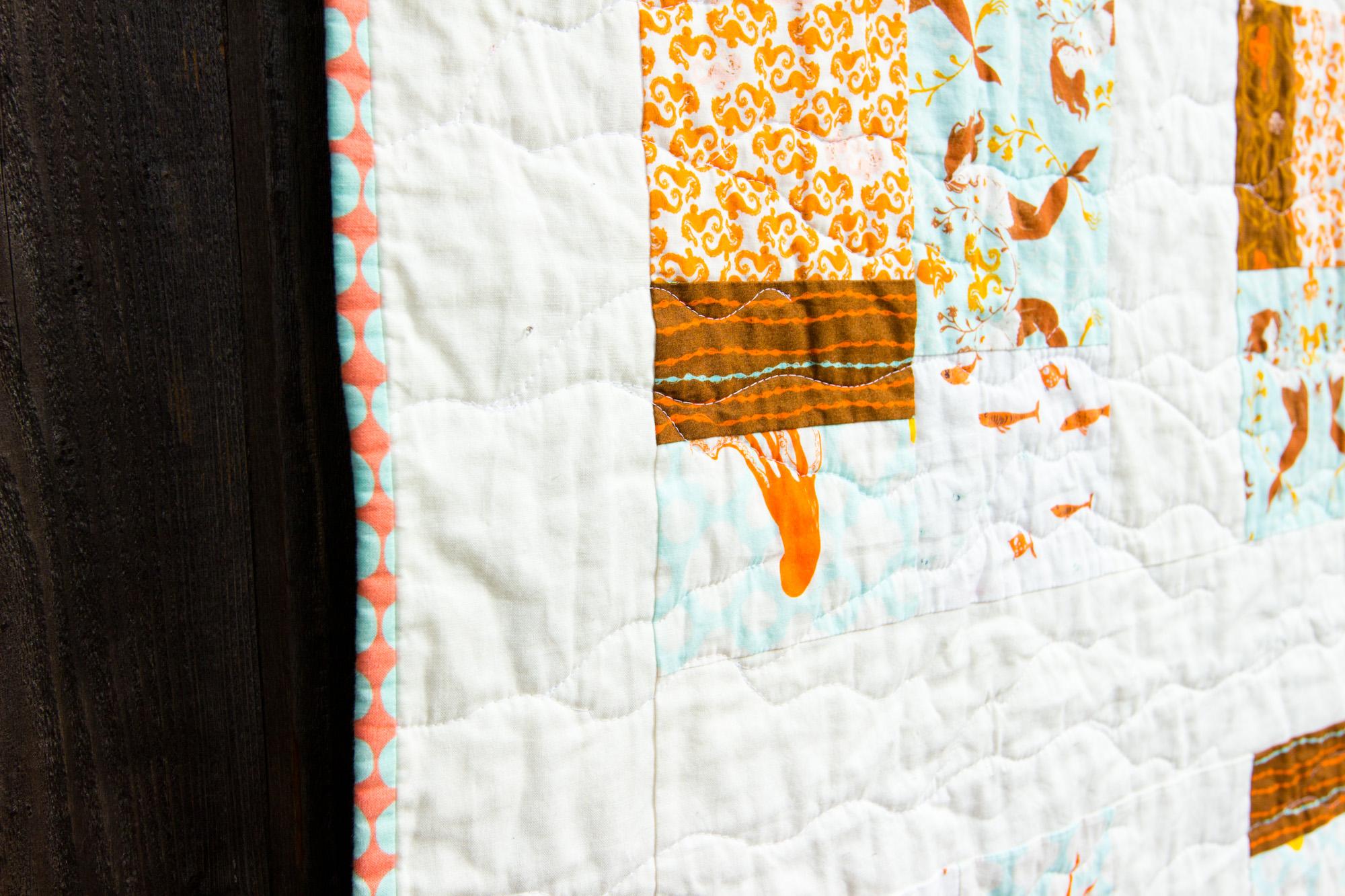 mendocino tidepools :: baby quilt