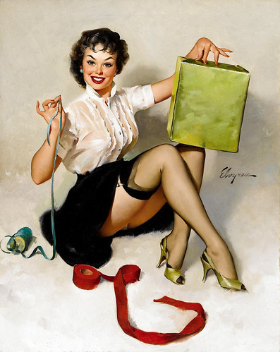 A Neat Package by Gil Elvgren, 1961