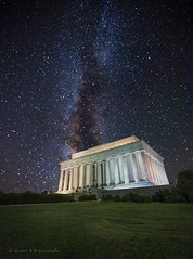 Lincoln Monument Autumn Milky Way