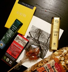 Oh me oh my! A parcel full of #canadian chocolates, treats + a handwritten letter made this mama cry!! #luckygirl  . #maplesyrup #popcorn #rosemary #chocolate #kindness