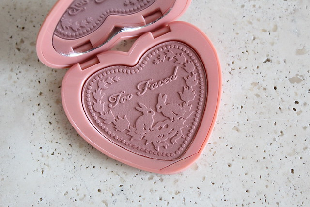 Too Faced Love Flush blush in baby love review and swatches
