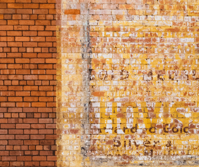 hovis ghost sign on brick wall