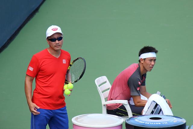 Kei Nishikori & Michael Chang