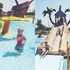 Awesome splash park fun with friends! #aboynamedfox #misspaisleygrace #summerfun #trophyclubsplashpark