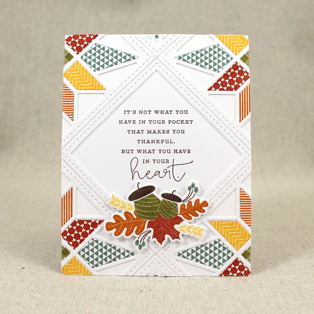 Thankful Heart Quilt Card