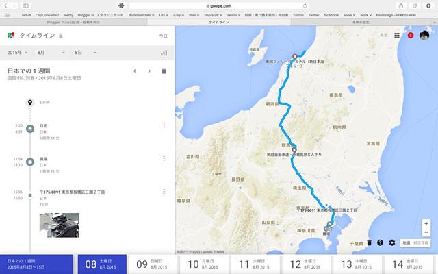 2015 北海道ツーリング行程