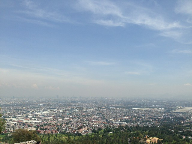View of Mexico City looking from the South toward downtown