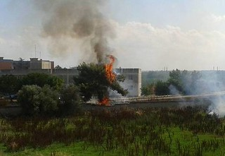 Casamassima- Anconra un incendio spento dall'Aserc