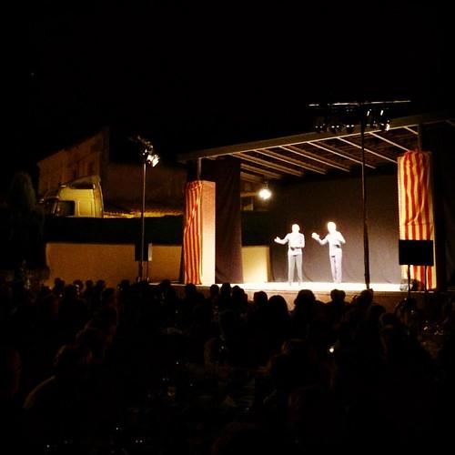 Al #teatre de #FestaMajor a Sant Joan Samora amb la darrera obra de @volrasteatre #SantLlorenç #Hortons #Penedès