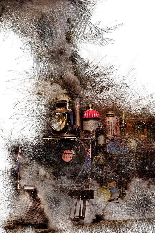 Steam Engine BIG-9632 LINES j