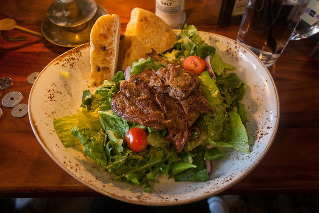 Beef salad for lunch, Bergen