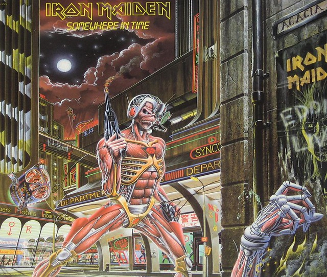 "IRON MAIDEN Somewhere in Time USA 12"" Vinyl LP"