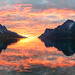 autumn sunset -final glow by John A.Hemmingsen