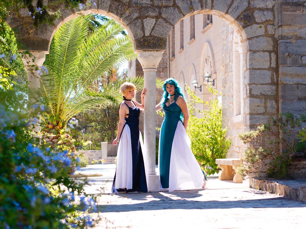 related image - Shooting Sailor Neptune - Sailor Uranus - Castel Sainte Claire - Hyères - 2015-09-20- P1210887