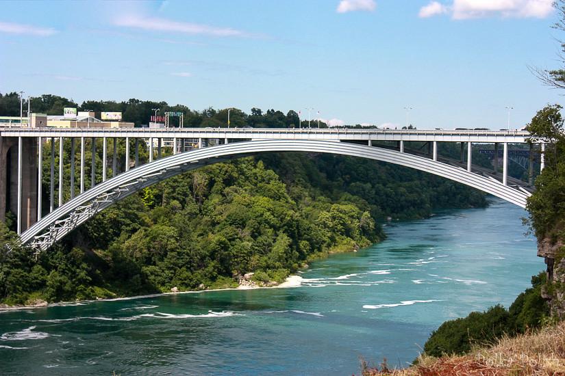 The Rainbow Bridge at Niagara Falls