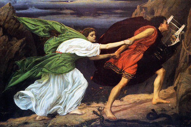 Orpheus and Eurydice (1862) by Edward Poynter. Image: Wikicommons