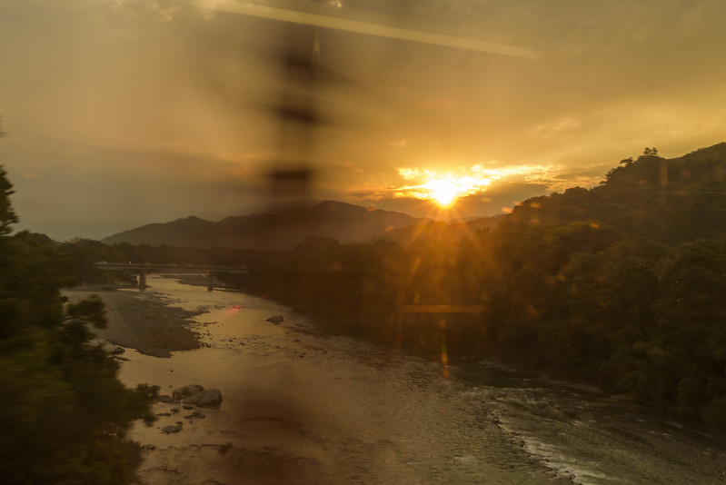 Sunset from the train window.