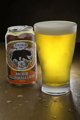 Anchor Steam Cali Lager Can & Full Glass