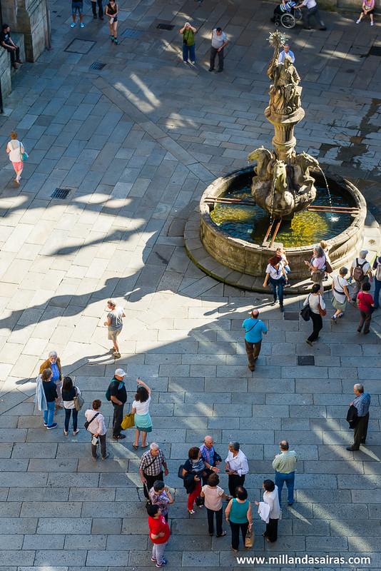 Vista aerea de la Plaza de Platerías