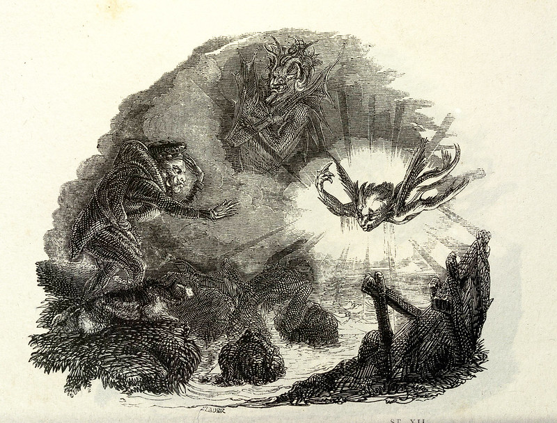 "Thomas Landseer - Illustrations from ""Tam O'Shanter and Souter Johnny, A Poem,"" by Robert Burns, 1830 (7)"