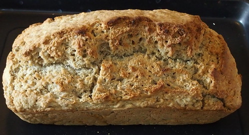 Freshly baked beer bread