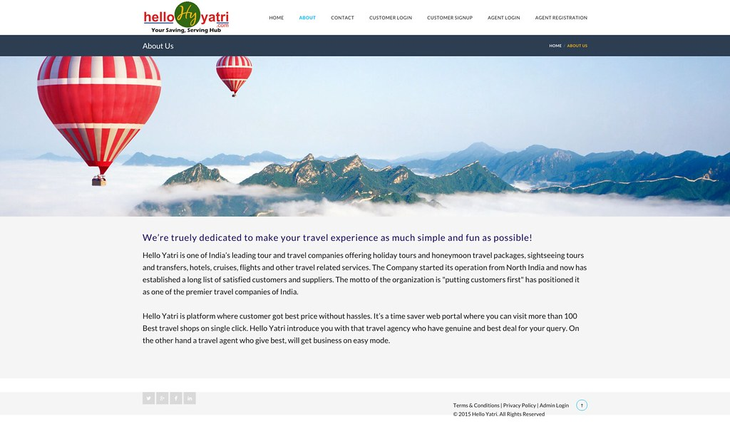 hello yatri travel website