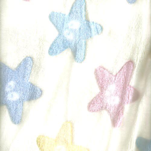 【限宅配】米黃海星法蘭絨 寢具 衣物 嬰兒毛毯肚圍背心 冷氣毯 睡衣睡袍 玩偶 LC1590004
