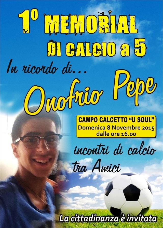 Noicattaro. Memorial Onofrio Pepe intero