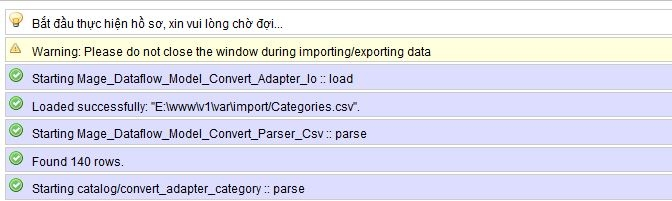 import export category in magento