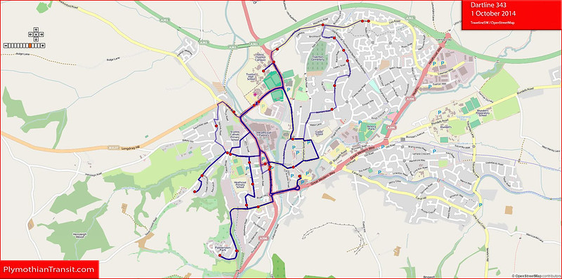 2014 10 01 Dartline route-343 Map.jpg