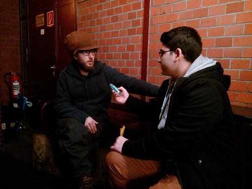 """Exkursion der Audio/Weblog-Werkstatt: Interview mit Florian Kliem (u.a. Mitbegründer der """"Katine NEUN"""" in der Kreuzberger """"Markthalle NEUN"""""""