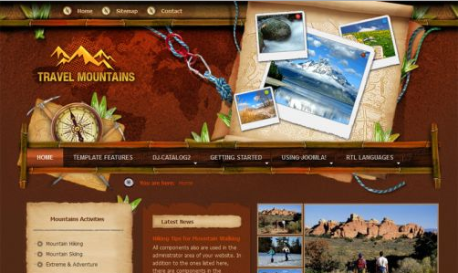 JoomlaMonster JM Mountains v1.01 - Joomla Template