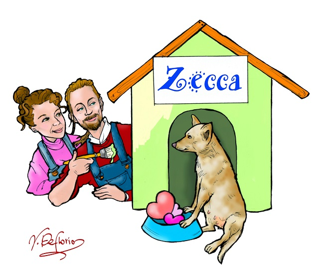 Noicattaro. Vignetta cane Zecca intero
