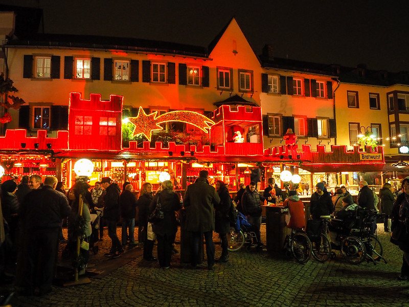 Christmas market in Rudesheim, Germany