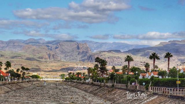 Drainage Channel, Maspalomas, Gran Canaria, Spain - 4787