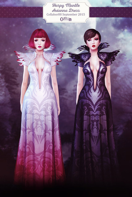 Avianna Dress - Harpy Mantle