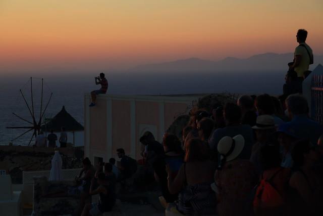 Crowds Watching the Sunset, Oia, Santorini