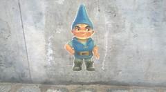 art, garden gnome, blue,