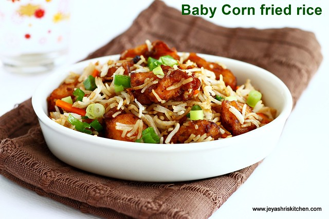 Baby corn -fried rice