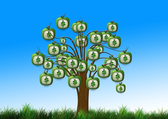 Graphic of a money tree