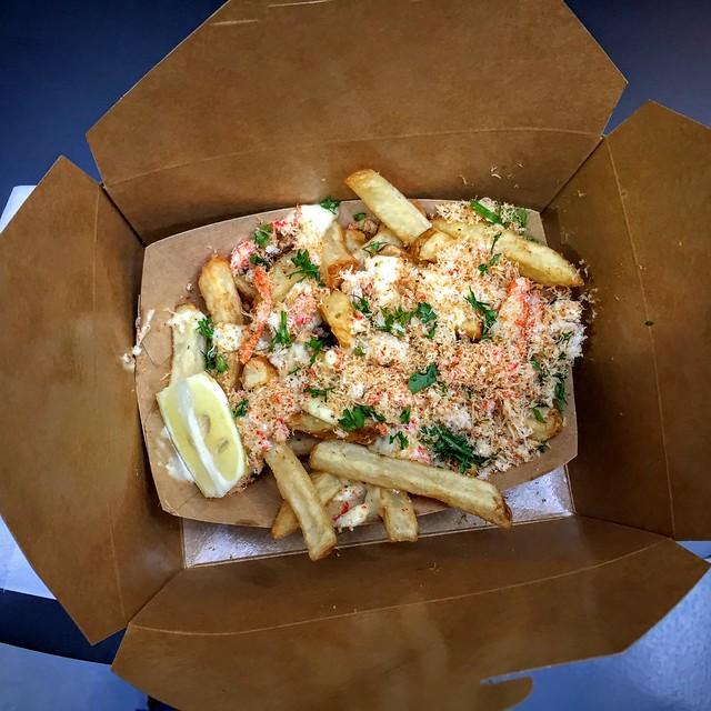 Les snow crab fries font partie des plats les plus insolites de la foire...